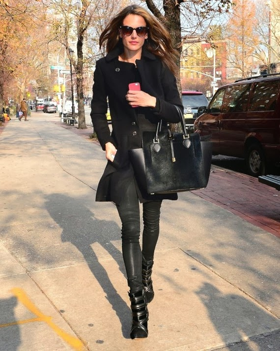 Alessandra Ambrosio - Monochromatic Style