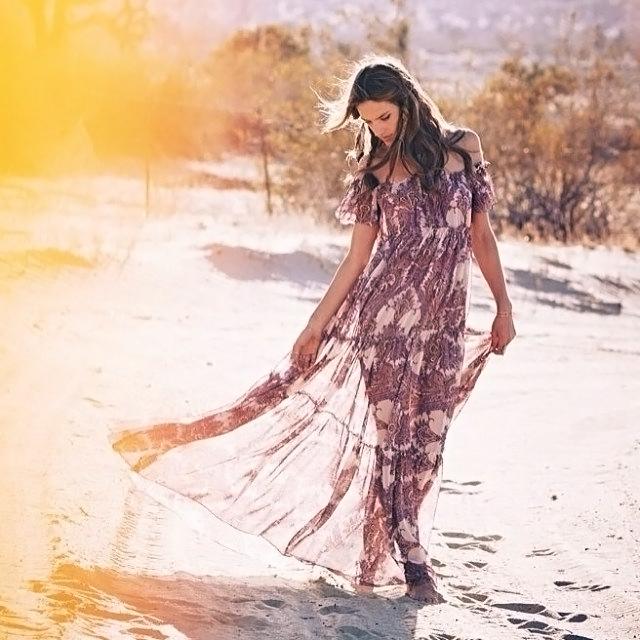 ale by alessandra - desert dreams tiered maxi