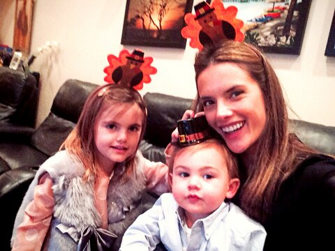 Alessandra Ambrosio - Family - Thanksgiving Style