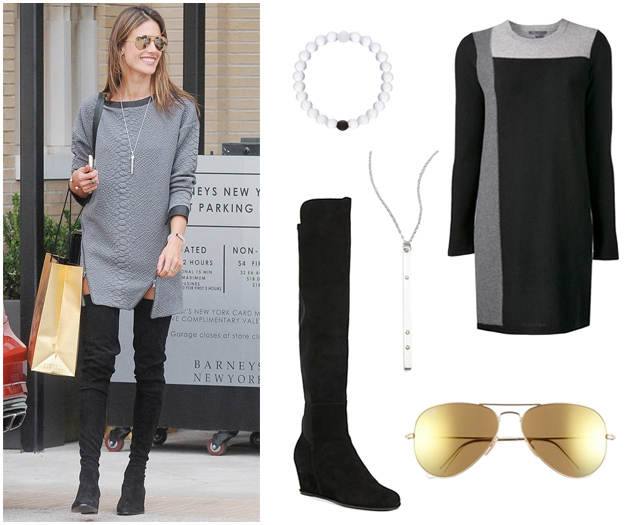Sweater Dress Style - Thigh High Boots